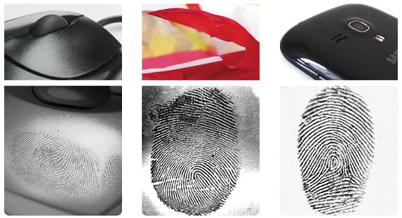 Fingerabdrücke auf Kunststoffen