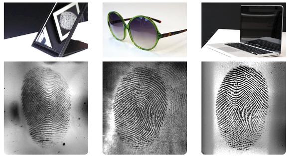 Fingerabdrücke auf spiegelnden Oberflächen