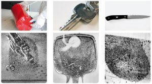EVISCAN fingerprint results on metal