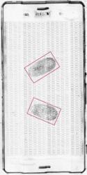 gesicherte Fingerabdrücke auf Handy mit EVISCAN