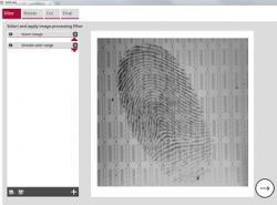 EVISCAN Bildschirm mit optimierten Fingerabdruck