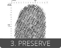 EVISCAN preserves fingerprints