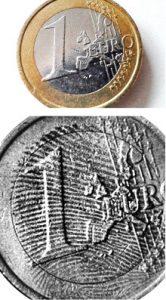 Fingerabdrücke auf Münze