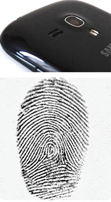 fingerprint on smartphone detected with eviscan