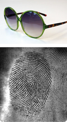 fingerprint on sunglasses detected with eviscan