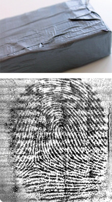 fingerprint on duct tape