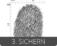 EVISCAN sichert Fingerabdrücke