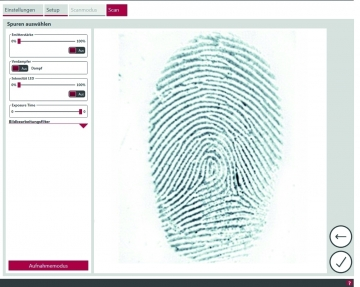 fingerprint detected with eviscan