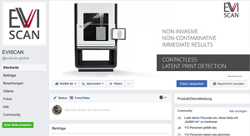 Facebook page of eviscan