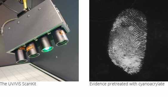pretreated evidence secured with UV/VIS ScanKit