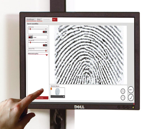 fingerprint detected, enhanced and preserved with eviscan