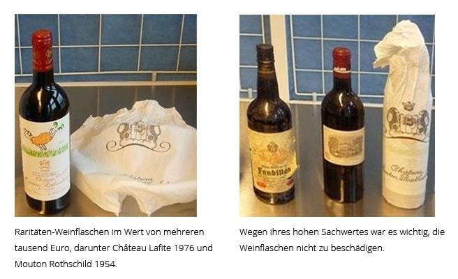 wertvolle Weinflaschen