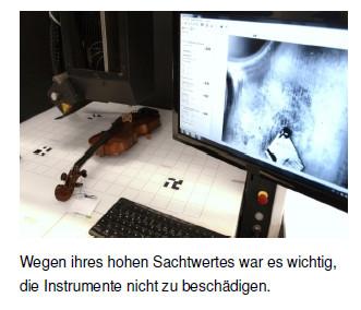 Violine untersucht mit EVISCAN