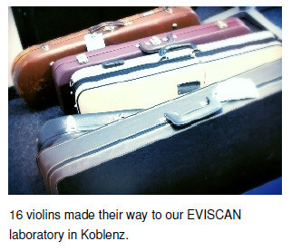 violine cases at EVISCAN laboratory