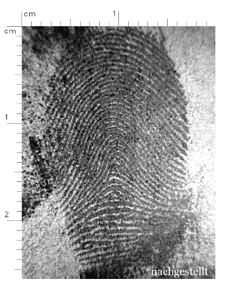 detected latent fingerprint