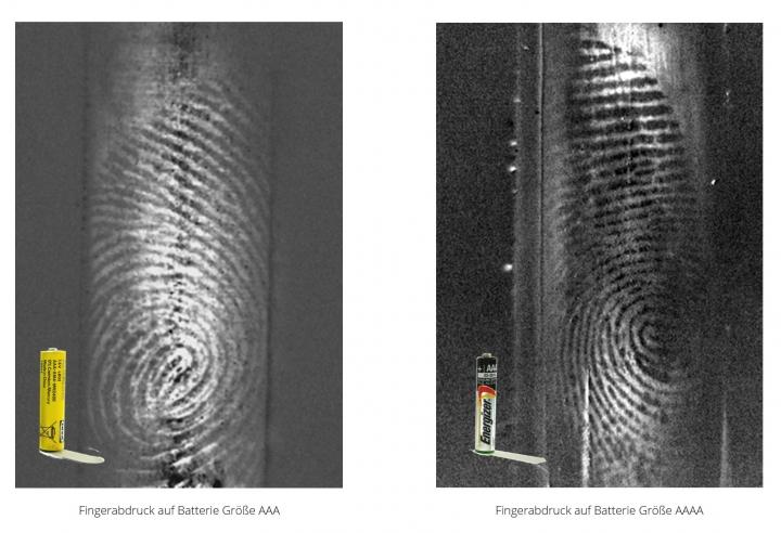 Fingerabdruck auf Batterie (Größe AAA und AAAA)