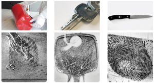 latent prints secured on metals